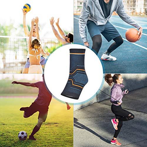CHICIRIS Tobilleras S/M/L/XL, Tobilleras, Tobilleras de Punto, protección cálida de Baloncesto con Alta Elasticidad(XL Size One Pack)