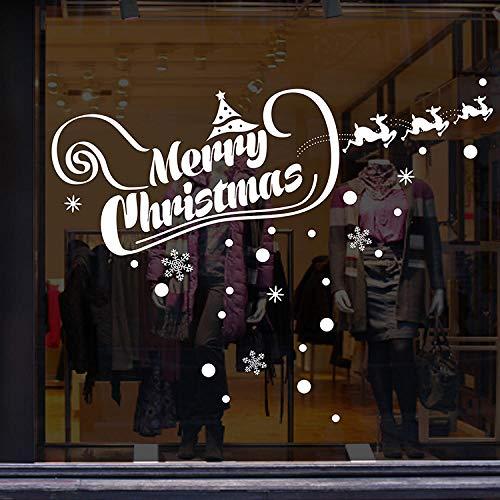 Bärenkaninchendekorative Aufkleber Weihnachtsshop Glas Dekorative Aufkleber Transparente Umweltaufkleber Können Entfernt Werden
