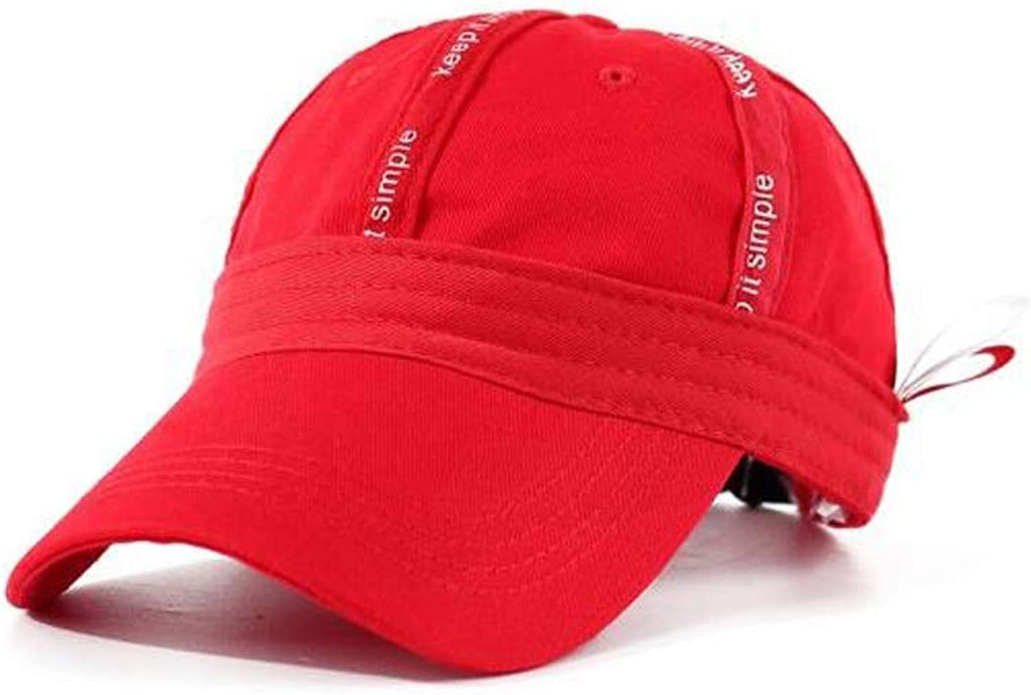 Haoyushangmao Hat, Fashion Men's and Women's Dome Baseball Cap, Outdoor Sports Cap, Red 17  7.5CM, Perimeter 5659CM, The for Friends and Family Excellent Quality