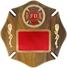 Awards and Gifts R Us Fire Department Maltese Cross Plaque