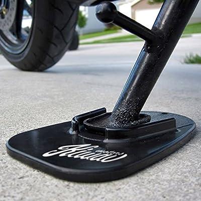 KiWAV Motorcycle kickstand pad support black x1 piece soft ground outdoor parking by KiWAV