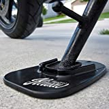 KiWAV Motorcycle kickstand pad support black x1...