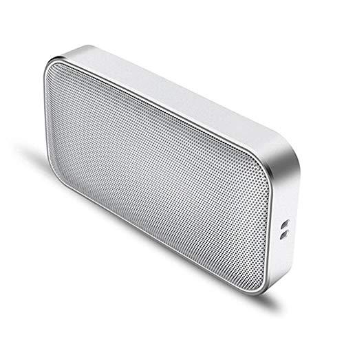 Draadloze luidspreker in zakformaat – draagbare mini-muziek-soundbox van metaal V4.2, one-touch-sound-subwoofer voor sportieve activiteiten buitenshuis, voor telefoon, tablet, tv en nog veel meer, wit
