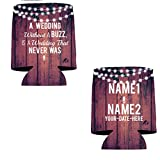 """VictoryStore Can and Beverage Coolers: Customizable'Without A Buzz"""" Wedding Can Coolers (100)"""