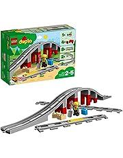 Lego 10872 Duplo stad tåg bro och spår byggnadsstenset med horn ljud actiontegel