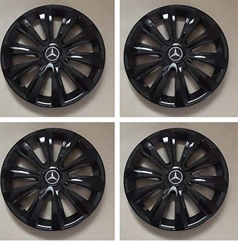 Unit.ec 4X Radkappen 16 Zoll in schwarz für z.b. Mercedes Inkl Embleme