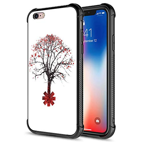 iPhone 6s Plus Case,Red Pepper Tree iPhone 6 Plus Cases for Boys Girls,Pattern Graphic Design Shockproof Non-Slip Case for Apple iPhone 6s Plus/6 Plus