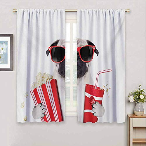 HoBeauty home Pugboys Room decorGoing to The Movies Pug Dog Popcorn Soft Drink...