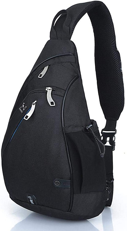 HOQTUM Sling Bag Men and Women Fashion Sports Chest Bag Outdoor Fitness Hiking Shoulder Bag Backpack Waterproof AntiTheft Messenger Bag