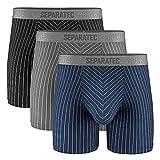 Separatec Men's Underwear Stylish Striped...