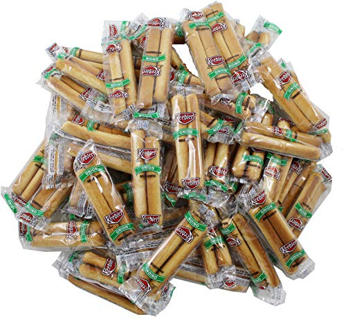 Keebler Onion Flavor Breadstick Crackers, Individual 2 Count Packet, 50 Total Packs
