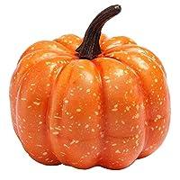 2PCS/Set Mini artificial fake decorative pumpkin Halloween Props faux vegetables Pretend Play photography property food