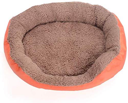 YLCJ Ronde kussen in de vorm van een donut Bed voor honden en katten, Orthopedische opluchting, Zelfverwarmend Gezellig om beter te slapen Vierkant voor huisdieren Klein medium warm bed met stijf ademend katoen voor katten, S, As-picture