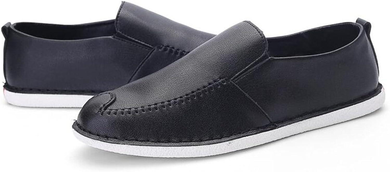 QIDI tillfälliga skor skor skor för män Trend Andningsbar icke -Slip -Resistenta Rena Färgbara Skor (färg  T -3, Storlek  EU42  UK8.5)  online shopping sport