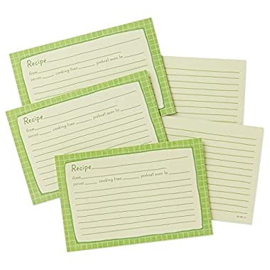Hallmark Green Whimsical Recipe Cards