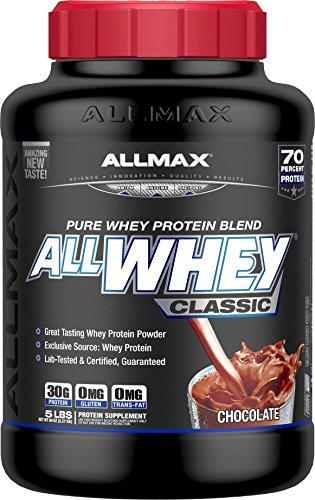 オールホエイクラシック 100%ホエイプロテイン チョコレート 2.27kg (ALLWHEY Classic - Chocolate 5LB) [...