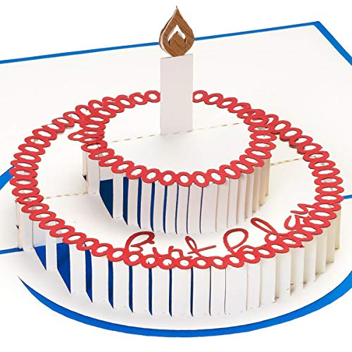 3D Geburtstagskarte, Torte mit Kerze, Pop up Karte, Glückwunschkarte Geburtstag, Grußkarte, Geschenkkarte als Gutschein oder für Geldgeschenk, Happy Birthday Card