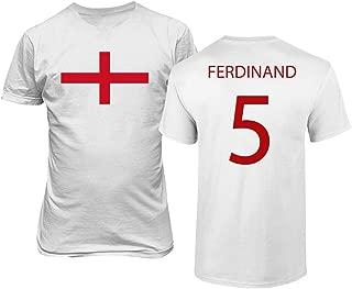 Soccer Legends #5 Rio Ferdinand Jersey Style Men's T-Shirt