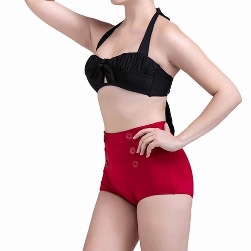 急いでパット内側LilyAngel 女性のビキニ二ピース水着フロントタイ結びハイウエストプッシュアップパッド付き包帯Beachwear(S - XXXL)