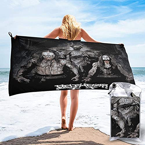 XCNGG Belphegor Microfiber Quick-Drying Beach Towel, Carry Bag, Super Absorbent Towel, Sand-Free Towel, Travel, Gym, Camping, Swimming Pool, Yoga, Outdoor and Picnic (15.7 X 31.5 inches) 31.5'x63'