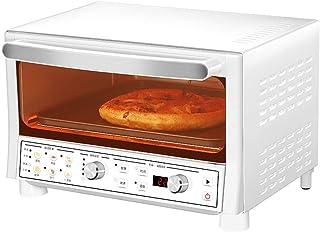 Horno eléctrico de 16L, mini horno de sobremesa 1200W Potencia de cocción 8 menús preestablecidos Calefacción de cuarzo Bandeja antiadherente para hornear Incluye bandeja para hornear y bandeja para