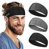 Linlook Sport Stirnband für Herren und Damen - Anti Rutsch Stirn Schweißband Kopf für Laufen...