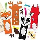 Baker Ross AX207 Waldtiere Lesezeichen Bastelset Für Kinder - 8 Stück, Kreativsets Und...