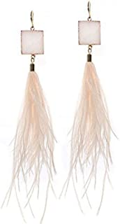 Best feather earrings pink Reviews