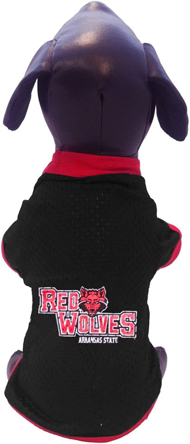 All Star Dogs Arkansas State Red Wolves Athletic Mesh Dog Jersey, XSmall