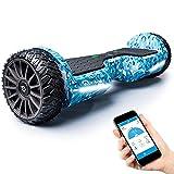 BLUEWHEEL 6,5' Premium Offroad-Hoverboard | App-kompatibel + Bluetooth Lautsprecher & LED Leuchte...