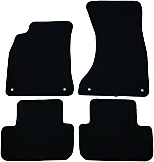 Floor Mats Compatible With 2009-2016 Audi A4 S4 | 4 PCS Black Nylon Front Carpets Flooring Protection Interior By IKON MOTORSPORTS | 2010 2011 2012 2013 2014 2015
