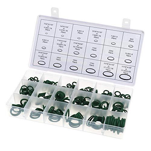 270-tlg. Gummi O-Ringe Set Dichtringe Dichtungen für Klimaanlage Oringe grün