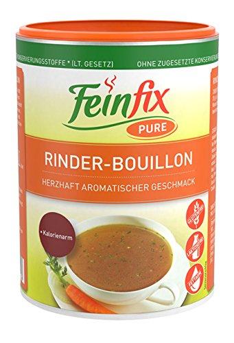 Feinfix Pure Rinder Boullion 540g für 27 Liter Suppen-Brühe | Suppenbrühe ohne Konservierungsstoffe | Suppen Rinderbrühe glutenfrei | Suppe aus Rinderfleischextrakt Kalorienarm kochen | DY-5TOH-YTA4