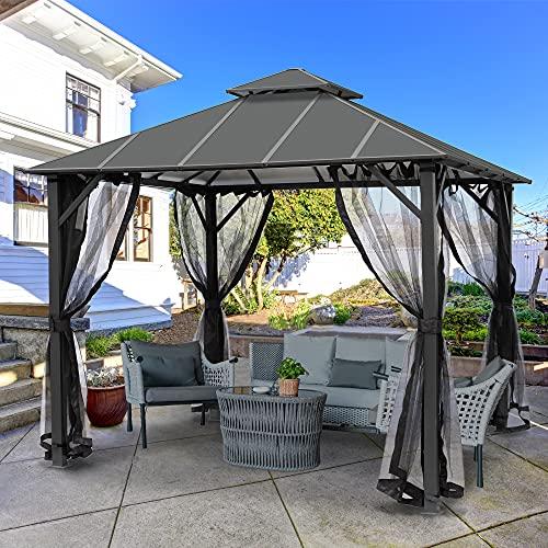 ASTEROUTDOOR 10x10 Outdoor Insulated Hardtop Gazebo for Patios, Aluminum Composite Panel Double Roof...