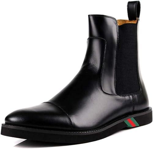 auténtico HYLFF hombres Negocios zapatos Solos zapatos