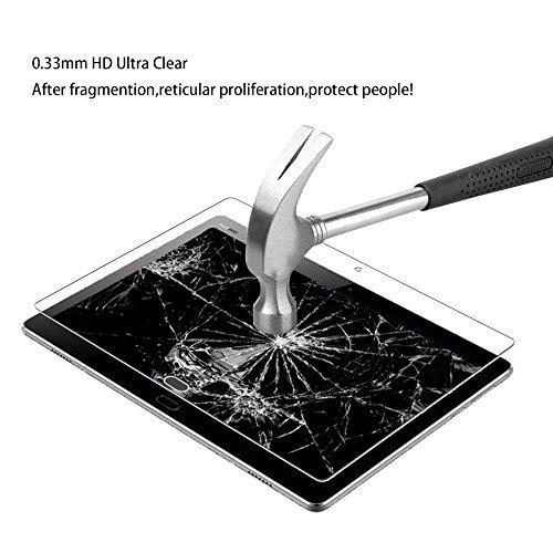 Huawei Mediapad M3 Lite 10 Panzerglas Schutzfolie, WEOFUN Displayschutzfolie für Huawei Mediapad M3 Lite 10.1 Zoll Panzerfolie Schutzglas Folie [0.33mm, 9H, Ultra-Klar] - 3
