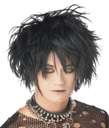 California Costumes Men's Midnight Fiend Wig, BLACK, One Size
