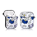 LKDEPO Airpods Case Cover and Skin, PET Material IMD Technology Protective Cover Case Compatible for Airpods 1&2 [Cute Cartoon Graffiti Skin] [Designed for Kids Girl and Boys]