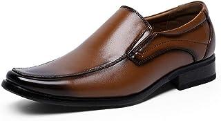 DADIJIER Oxford Formales for Hombres Mocasines de Vestir resbalón en Piel de Microfibra en Punta del Dedo del pie de Costu...