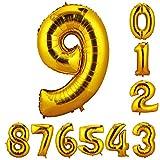 CCINEE 90cm 数字9 風船 数字バルーン ゴム風船  誕生日 パーティー飾りに