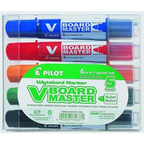 Pilot - Caja Rotuladores pizarra blanca 5 colores