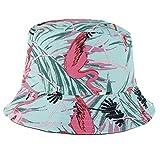 PRETYZOOM Sombrero de Cubo Personalizado Gorra de Pescador de Verano Flamenco Borde Ancho Gorra de Verano Al Aire Libre Gorra Protectora a Prueba de Polvo para Senderismo Verde