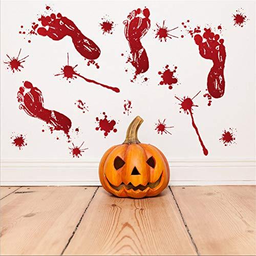 Mddjj Halloween Sang Empreinte Bar Comptoir Coin Armoire Fenêtre Maison Hantée Sticker Mural Horreur Effrayant Salon Chambre Home Decor Enfants Chambres