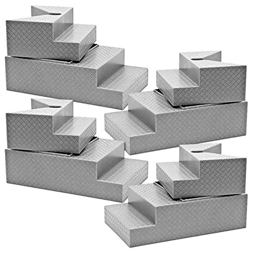 Set of 4 Deluxe Gray Breakable Ring Stairs for WWE Wrestling Action Figures