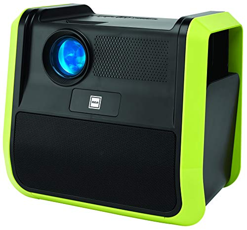 RCA - RPJ060 Portable Projector Home Theater Entertainment System - Outdoor, Built-in Handles and Speakers, Neon