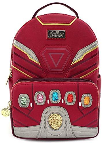 marvel avengers messenger bags Loungefly Infinity Gauntlet Endgame Hero Mini Backpack, Red, Standard