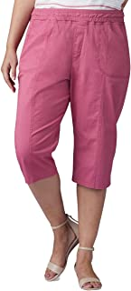 Lee womens Plus Size Flex-To-Go Relaxed Fit Pull-On Utility Capri Pant Pants