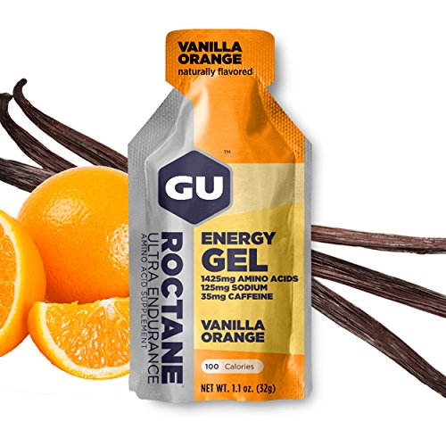 GU Roctane Energy Gel Vanilla Orange, 35mg Caffeina, box da 24 gel da 32g