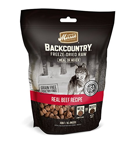 Merrick Backcountry Freeze-Dried Raw Real Beef Recipe Meal Or Mixer Grain Free Adult Dog Food, 5.5 Oz.