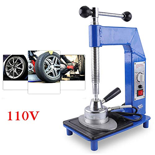HYYKJ Auto Tire Tyre Repair Machine Tool Kit Tire Changer Spreader Wheel Patching Plug Tool Heating Vulcanizing Machine Vulcanizer Self-Standing 110V